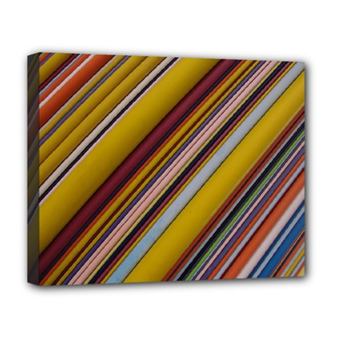 Colourful Lines Deluxe Canvas 20  X 16