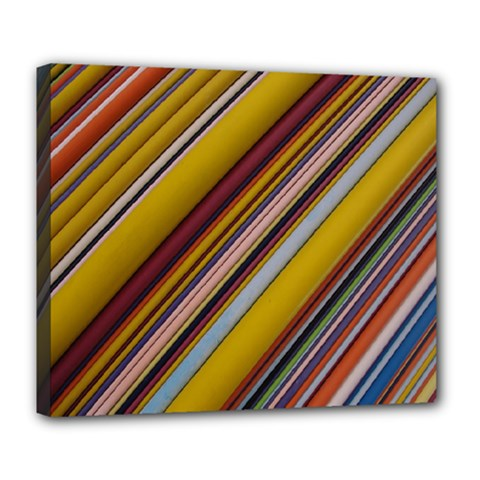 Colourful Lines Deluxe Canvas 24  x 20