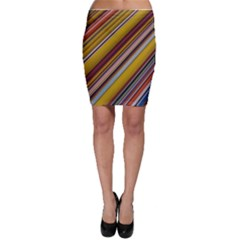 Colourful Lines Bodycon Skirt