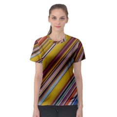 Colourful Lines Women s Sport Mesh Tee