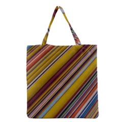 Colourful Lines Grocery Tote Bag