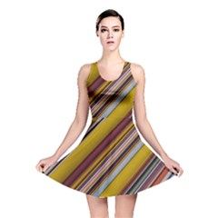 Colourful Lines Reversible Skater Dress