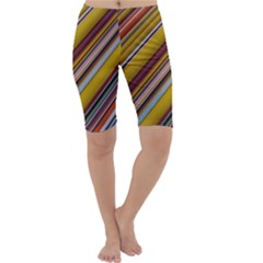 Colourful Lines Cropped Leggings