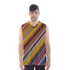 Colourful Lines Men s Basketball Tank Top