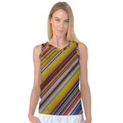 Colourful Lines Women s Basketball Tank Top