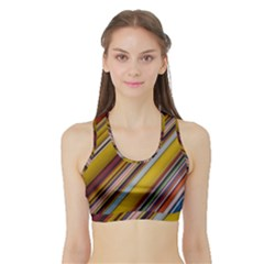Colourful Lines Sports Bra with Border
