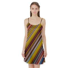 Colourful Lines Satin Night Slip
