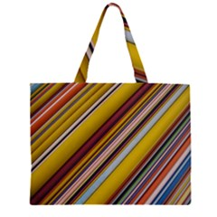 Colourful Lines Large Tote Bag