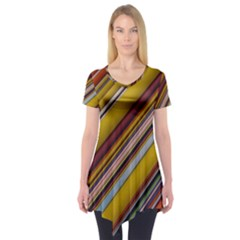 Colourful Lines Short Sleeve Tunic