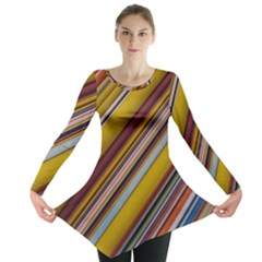 Colourful Lines Long Sleeve Tunic