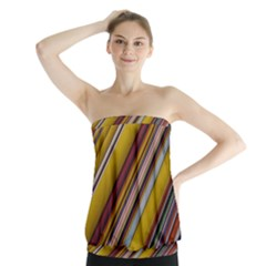 Colourful Lines Strapless Top