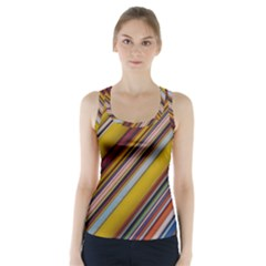 Colourful Lines Racer Back Sports Top