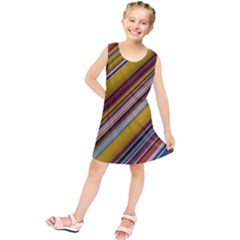 Colourful Lines Kids  Tunic Dress