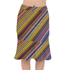 Colourful Lines Mermaid Skirt