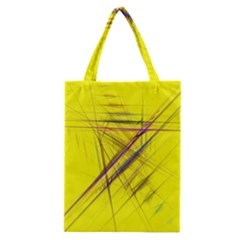Fractal Color Parallel Lines On Gold Background Classic Tote Bag