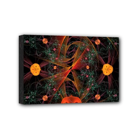Fractal Wallpaper With Dancing Planets On Black Background Mini Canvas 6  x 4