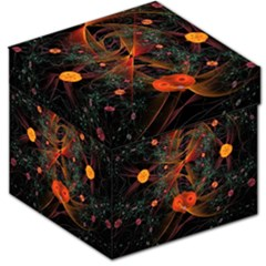 Fractal Wallpaper With Dancing Planets On Black Background Storage Stool 12