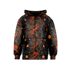 Fractal Wallpaper With Dancing Planets On Black Background Kids  Pullover Hoodie