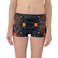 Fractal Wallpaper With Dancing Planets On Black Background Reversible Bikini Bottoms