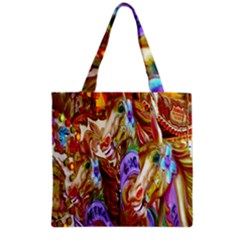 3 Carousel Ride Horses Grocery Tote Bag