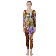 3 Carousel Ride Horses Long Sleeve Catsuit