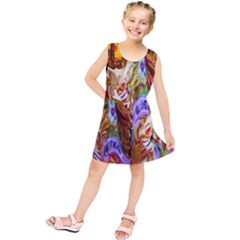 3 Carousel Ride Horses Kids  Tunic Dress