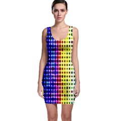A Creative Colorful Background Sleeveless Bodycon Dress