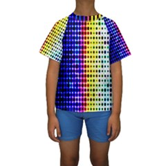 A Creative Colorful Background Kids  Short Sleeve Swimwear