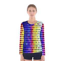 A Creative Colorful Background Women s Long Sleeve Tee