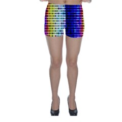 A Creative Colorful Background Skinny Shorts