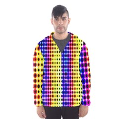 A Creative Colorful Background Hooded Wind Breaker (men)