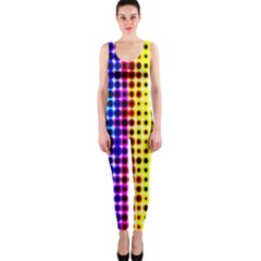 A Creative Colorful Background Onepiece Catsuit