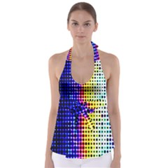 A Creative Colorful Background Babydoll Tankini Top