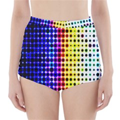 A Creative Colorful Background High-Waisted Bikini Bottoms
