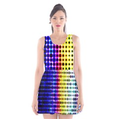 A Creative Colorful Background Scoop Neck Skater Dress