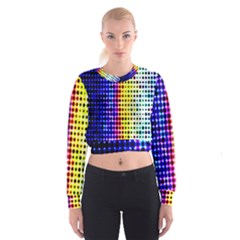 A Creative Colorful Background Cropped Sweatshirt