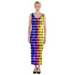 A Creative Colorful Background Fitted Maxi Dress