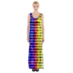 A Creative Colorful Background Maxi Thigh Split Dress