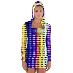 A Creative Colorful Background Women s Long Sleeve Hooded T-shirt