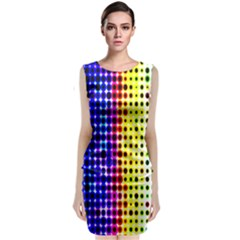 A Creative Colorful Background Classic Sleeveless Midi Dress