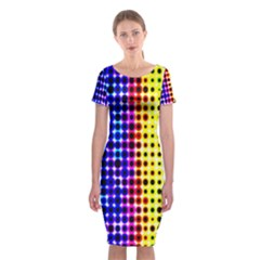 A Creative Colorful Background Classic Short Sleeve Midi Dress