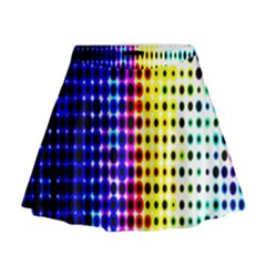 A Creative Colorful Background Mini Flare Skirt