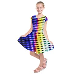 A Creative Colorful Background Kids  Short Sleeve Dress