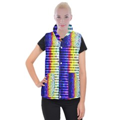 A Creative Colorful Background Women s Button Up Puffer Vest
