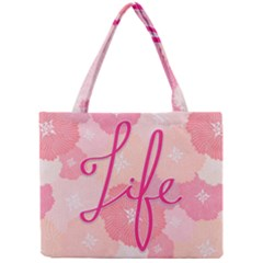 Life Typogrphic Mini Tote Bag