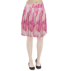 Life Typogrphic Pleated Skirt