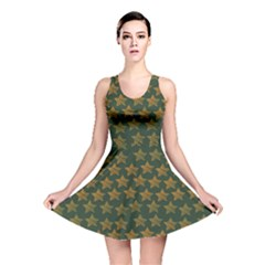 Stars Pattern Background Reversible Skater Dress