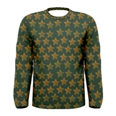 Stars Pattern Background Men s Long Sleeve Tee