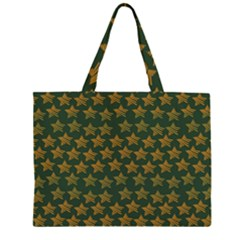 Stars Pattern Background Zipper Large Tote Bag