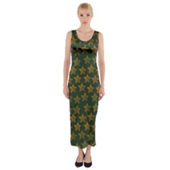 Stars Pattern Background Fitted Maxi Dress